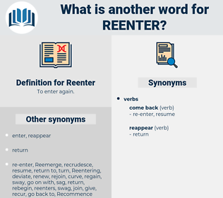 Reenter, synonym Reenter, another word for Reenter, words like Reenter, thesaurus Reenter