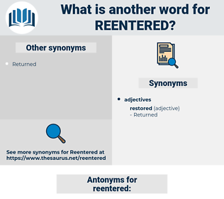 reentered, synonym reentered, another word for reentered, words like reentered, thesaurus reentered