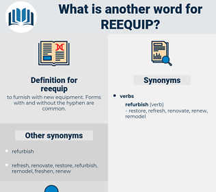 reequip, synonym reequip, another word for reequip, words like reequip, thesaurus reequip