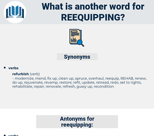 reequipping, synonym reequipping, another word for reequipping, words like reequipping, thesaurus reequipping