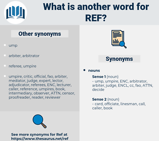 ref, synonym ref, another word for ref, words like ref, thesaurus ref
