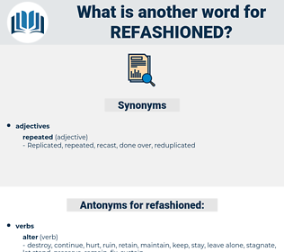 refashioned, synonym refashioned, another word for refashioned, words like refashioned, thesaurus refashioned