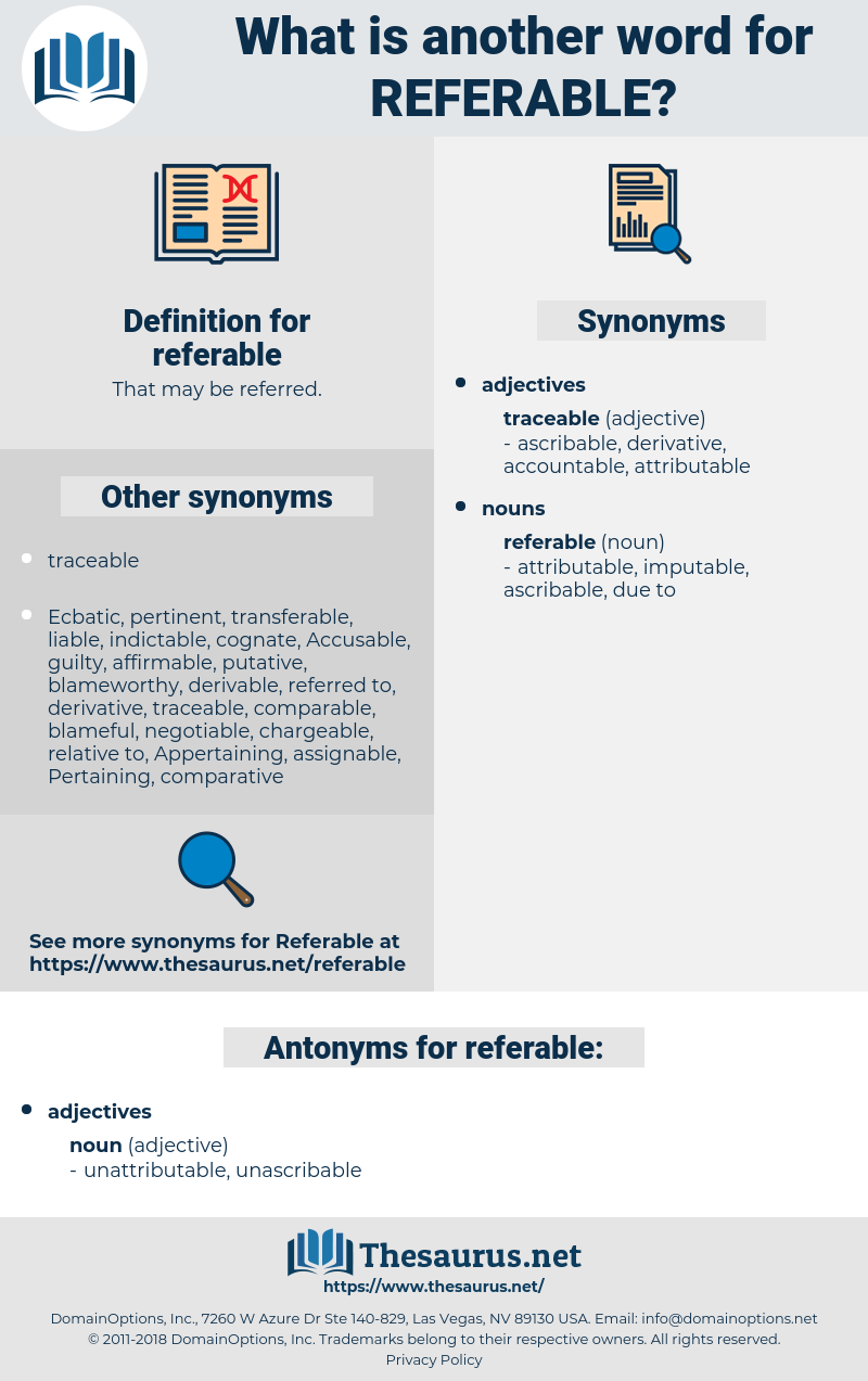 referable, synonym referable, another word for referable, words like referable, thesaurus referable