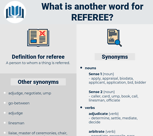 referee, synonym referee, another word for referee, words like referee, thesaurus referee