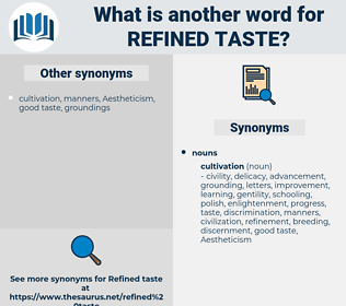 refined taste, synonym refined taste, another word for refined taste, words like refined taste, thesaurus refined taste