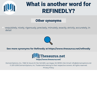 Refinedly, synonym Refinedly, another word for Refinedly, words like Refinedly, thesaurus Refinedly
