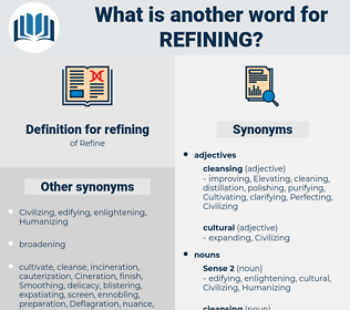 refining, synonym refining, another word for refining, words like refining, thesaurus refining