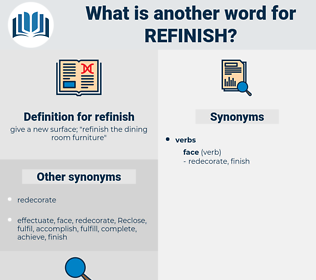 refinish, synonym refinish, another word for refinish, words like refinish, thesaurus refinish