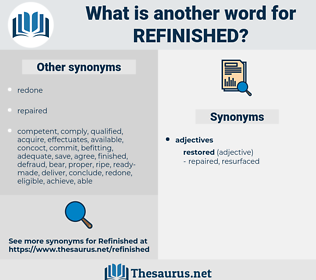refinished, synonym refinished, another word for refinished, words like refinished, thesaurus refinished