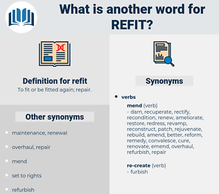 refit, synonym refit, another word for refit, words like refit, thesaurus refit