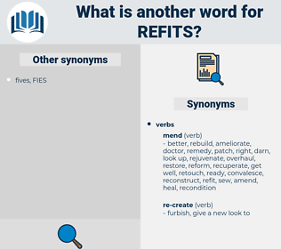 refits, synonym refits, another word for refits, words like refits, thesaurus refits