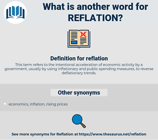 reflation, synonym reflation, another word for reflation, words like reflation, thesaurus reflation