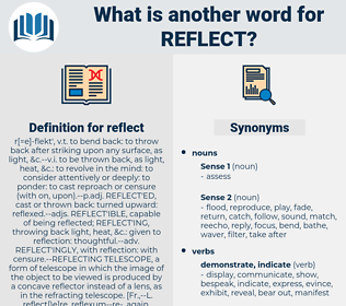 reflect, synonym reflect, another word for reflect, words like reflect, thesaurus reflect