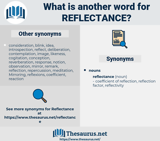 reflectance, synonym reflectance, another word for reflectance, words like reflectance, thesaurus reflectance