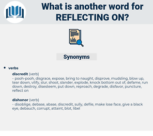 reflecting on, synonym reflecting on, another word for reflecting on, words like reflecting on, thesaurus reflecting on