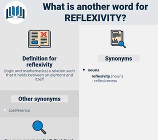 reflexivity, synonym reflexivity, another word for reflexivity, words like reflexivity, thesaurus reflexivity