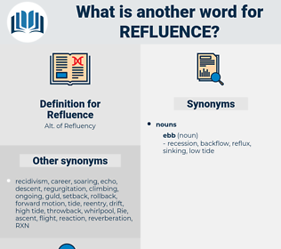 Refluence, synonym Refluence, another word for Refluence, words like Refluence, thesaurus Refluence