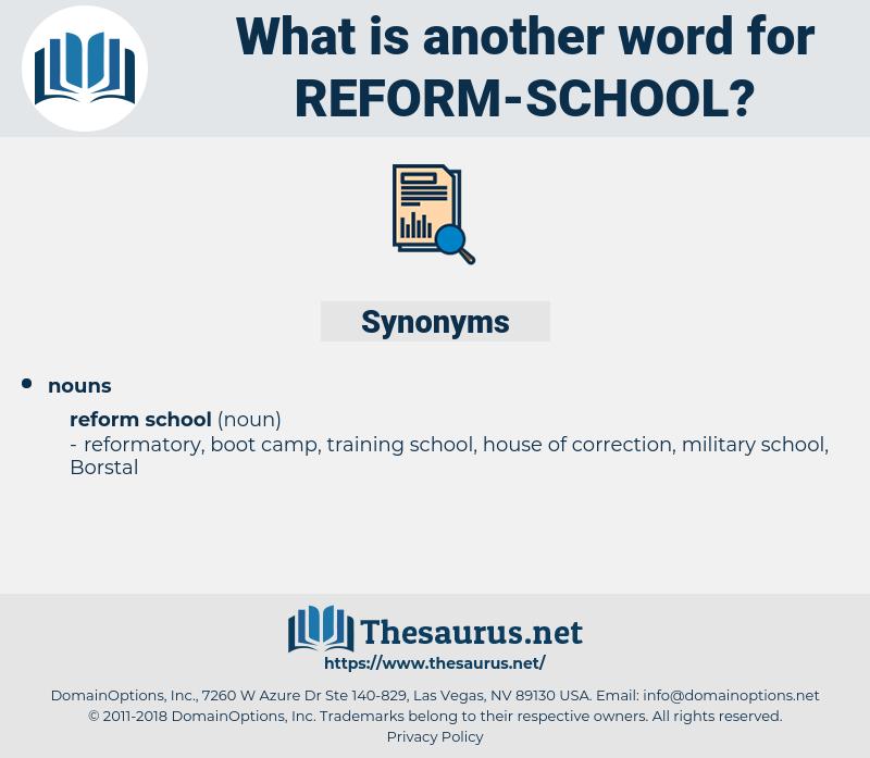reform school, synonym reform school, another word for reform school, words like reform school, thesaurus reform school