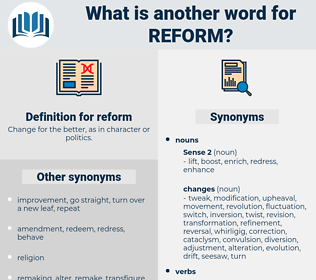 reform, synonym reform, another word for reform, words like reform, thesaurus reform