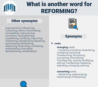 reforming, synonym reforming, another word for reforming, words like reforming, thesaurus reforming