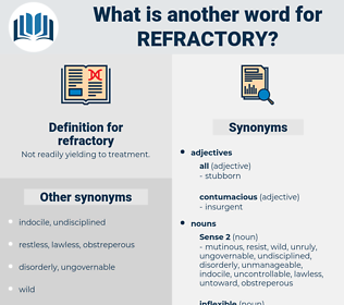 refractory, synonym refractory, another word for refractory, words like refractory, thesaurus refractory