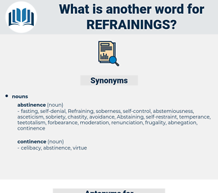 refrainings, synonym refrainings, another word for refrainings, words like refrainings, thesaurus refrainings