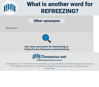 refreezing, synonym refreezing, another word for refreezing, words like refreezing, thesaurus refreezing