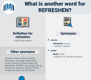 refreshen, synonym refreshen, another word for refreshen, words like refreshen, thesaurus refreshen
