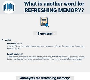 refreshing memory, synonym refreshing memory, another word for refreshing memory, words like refreshing memory, thesaurus refreshing memory