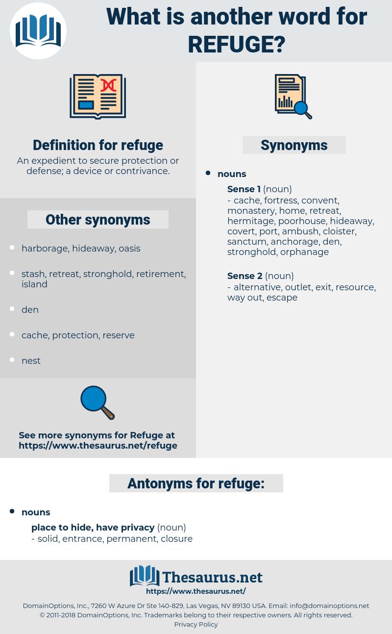 refuge, synonym refuge, another word for refuge, words like refuge, thesaurus refuge