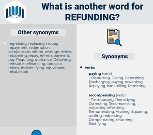 refunding, synonym refunding, another word for refunding, words like refunding, thesaurus refunding