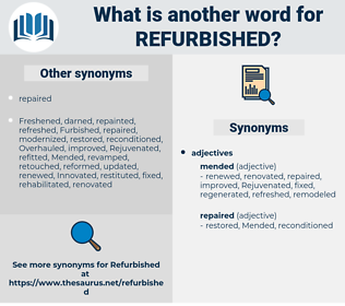 refurbished, synonym refurbished, another word for refurbished, words like refurbished, thesaurus refurbished