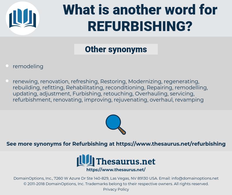 refurbishing, synonym refurbishing, another word for refurbishing, words like refurbishing, thesaurus refurbishing