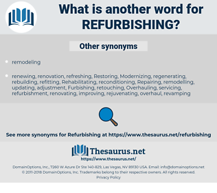 refurbishing, synonym refurbishing, another word for refurbishing, words like refurbishing, thesaurus refurbishing
