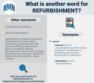 refurbishment, synonym refurbishment, another word for refurbishment, words like refurbishment, thesaurus refurbishment