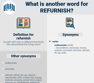 refurnish, synonym refurnish, another word for refurnish, words like refurnish, thesaurus refurnish
