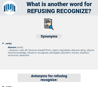 refusing recognize, synonym refusing recognize, another word for refusing recognize, words like refusing recognize, thesaurus refusing recognize