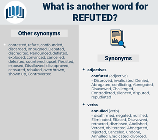 Refuted, synonym Refuted, another word for Refuted, words like Refuted, thesaurus Refuted