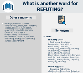 Refuting, synonym Refuting, another word for Refuting, words like Refuting, thesaurus Refuting