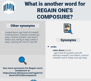 regain one's composure, synonym regain one's composure, another word for regain one's composure, words like regain one's composure, thesaurus regain one's composure