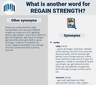 regain strength, synonym regain strength, another word for regain strength, words like regain strength, thesaurus regain strength
