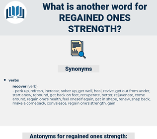 regained ones strength, synonym regained ones strength, another word for regained ones strength, words like regained ones strength, thesaurus regained ones strength