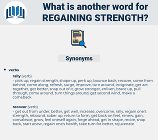 regaining strength, synonym regaining strength, another word for regaining strength, words like regaining strength, thesaurus regaining strength