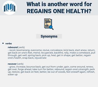 regains one health, synonym regains one health, another word for regains one health, words like regains one health, thesaurus regains one health