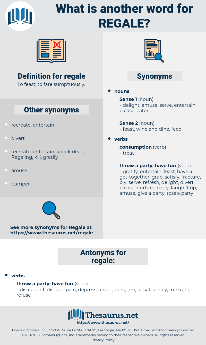 regale, synonym regale, another word for regale, words like regale, thesaurus regale