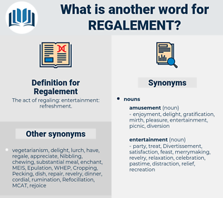 Regalement, synonym Regalement, another word for Regalement, words like Regalement, thesaurus Regalement