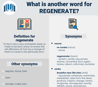regenerate, synonym regenerate, another word for regenerate, words like regenerate, thesaurus regenerate