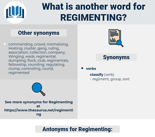 Regimenting, synonym Regimenting, another word for Regimenting, words like Regimenting, thesaurus Regimenting