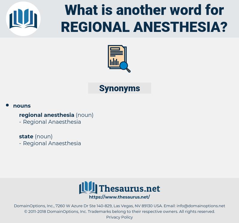 regional anesthesia, synonym regional anesthesia, another word for regional anesthesia, words like regional anesthesia, thesaurus regional anesthesia
