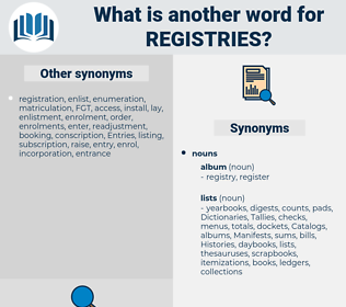 Registries, synonym Registries, another word for Registries, words like Registries, thesaurus Registries